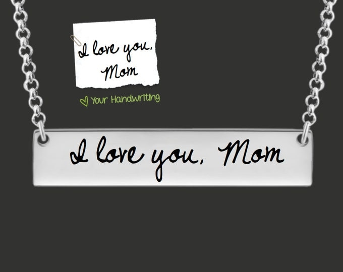 Bar Necklace | Handwriting Jewelry | Handwriting Necklace | Signature Jewlery | Personalized Gifts | Korena Loves