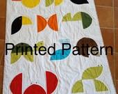 Animal Kingdom Baby Quilt Print Pattern