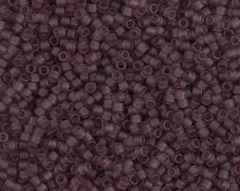 11/0 Miyuki Delica Seed Beads DB1264 - Matte Transparent Mauve Delica 1264 - 6 Grams - Delica ...