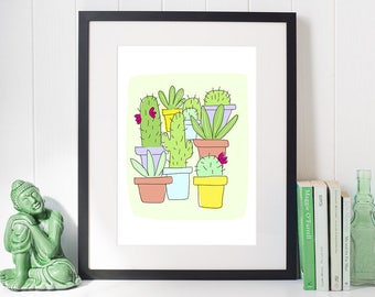 A4 Cactus Print