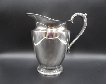 Vintage Rogers Silverplate Primrose Water Pitcher -Rogers 2317 Pitcher - Elegant and Classic - Rogers Silver Plate Primrose Water Pitcher