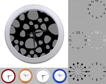 Stone Design Wall Clock, Abstract Rock Design, Artistic Nature, Customizable Clock, Round Wall Clock, Your Choice Clock Face or Clock Dial