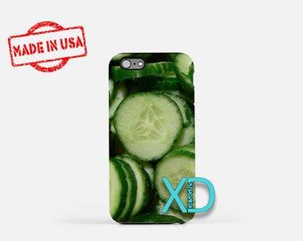 Cucumber iPhone Case, Vegetable iPhone Case, Cucumber iPhone 8 Case, iPhone 6s Case, iPhone 7 Case, Phone Case, iPhone X Case, SE Case