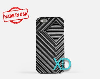 Metal Diamond iPhone Case, Metal iPhone Case, Industrial iPhone 8 Case, iPhone 6s Case, iPhone 7 Case, Phone Case, iPhone X Case, SE Case