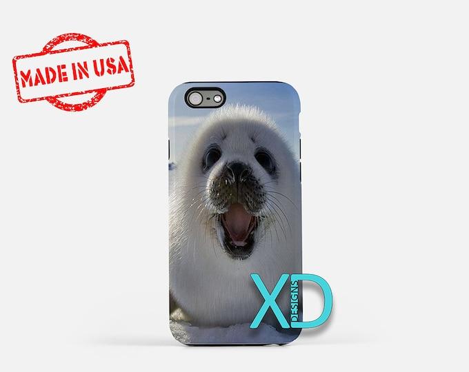 Seal iPhone Case, Harp Seal iPhone Case, Seal iPhone 8 Case, iPhone 6s Case, iPhone 7 Case, Phone Case, iPhone X Case, SE Case Protective