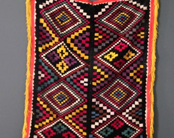 Vintage Afghan Suzani Embroidered Boho Tapestry for Wall or Bed