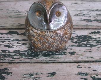 Vintage 1970's Ceramic Owl Figurine