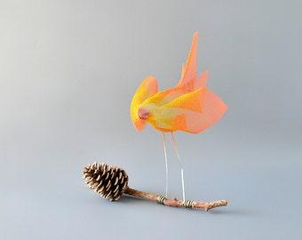 Bird sculptures, Abstract bird, Metal bird sculpture, Contemporary metal art, Decorative modern art, Orange bird