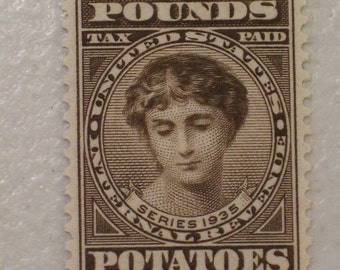 US 1935 Internal Revenue Stamp, 2 Pounds Potatoes, Scott # RI2, 1 1/2 Cents, MNH