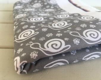 Grey Snail Fabric