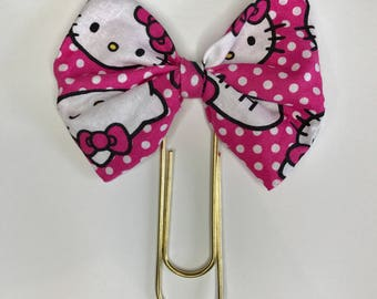 Giant pink Hello Kitty Planner Bow Paper clip
