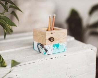 Marble Desk Organizer Box