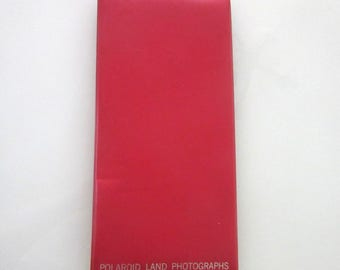 On Sale Polaroid Land Photograph Album Red Vinyl Holds 24 Pictures 12 x 6 Inches