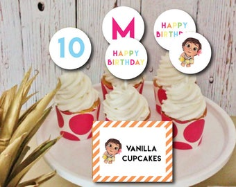 Sweet Moana Printable Party Circles Cupcake Toppers : THE PAPER DOLL