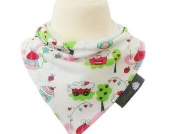 baby bib, bandana dribble bib, Michas Stoffecke, Candyland, organic cotton, bellaoski, baby gift, teething, new baby, dribble bib, bandana