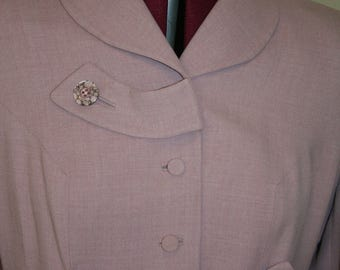 1940s 40s lavender tailored new look suit.  XS or S