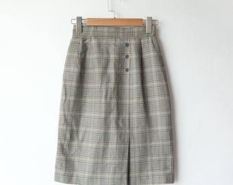 Vintage skirt | plaid | checker | Japanese | 70s 80s 90s