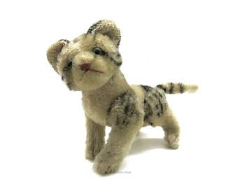 "Old Steiff Cat  ""Kitty"" Mohair 