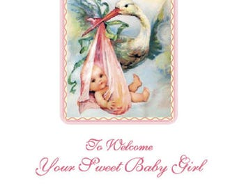 Greeting Card: To Welcome Your Sweet Baby Girl