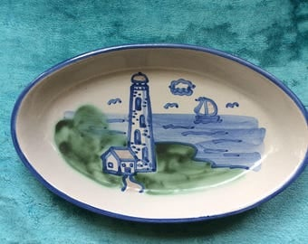 Hadley Kentucky Oval Pottery Platter