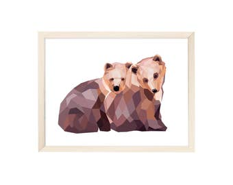 Art Print Little Bears