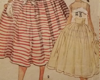Vintage Simplicity 4662 Sewing Pattern Size 12 One-Piece Dress and Formal Evening Dress 1954 Pattern