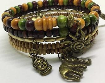 Five tiered Boho style Cuff Bracelet.