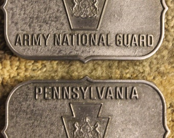 Vintage Pennsylvania Army National Guard Limited Edition Belt Buckle