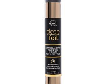 Deco Foil Transfer Sheets -  Rose Gold