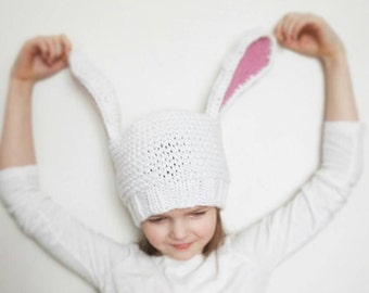Bunny Hat, Easter Bunny, Kids Hats, Knit Hat, Infant Hat, Bunny Ears, Easter Baby Hat, Kids Easter Outfit, Easter Photo Props, Animal hat
