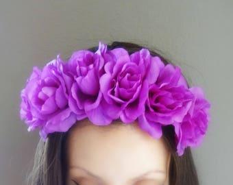 STUNNING Statement Crown, Flower Crown, Floral Crown