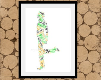 Male Irish Dancer Gift, Male Dancer Print, Male Dancer Gift, Male Dancer Word Art, Male Irish Dancer Word Collage, Male Irish Dancer Wordle