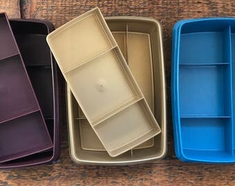 Vintage Tupperware Tuppercraft Organizer - Tupperware Divided Storage Box - Craft Box - Sewing Box 769, 766, 767,