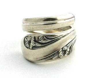 Gifts for Her Spoon Ring Romance 1952 Lily May Birthday Gift Vintage Silverware Art Jewelry Utah State Flower 20th Anniversary