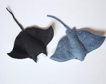 Felt Ocean Sting Rays Sewing Pattern Manta Ray & Eagle Ray - PDF Pattern