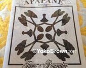 "New design! Hawaiian quilt pattern ""Taro and Taro pounder"" 20 inch x 20 inch"