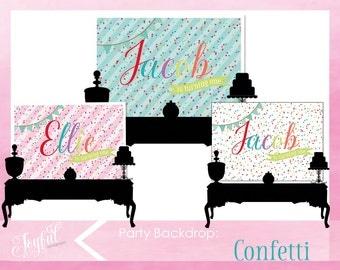 Confetti Birthday Party Backdrop