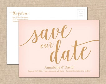 Simple save the date etsy for Diy save the date magnets template