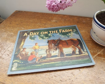 A Day On The Farm Illustrated Children's Book Published by Tuck