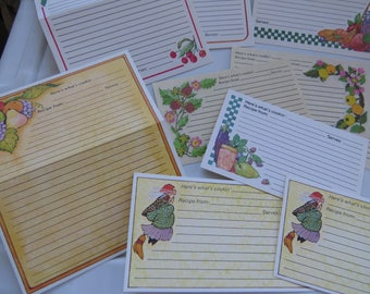 Oh So 80's Vintage Collection Current Recipe Cards x14 ~ Kitchen Witch ~ Fruit