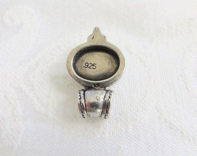Mexican Fire Opal Pendant, Vintage Sterling Opal Pendant, Opal Jewelry