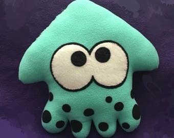Splatoon squid plush aqua