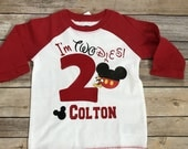 Mickey mouse birthday shirt, personalize Mickey mouse shirt, second birthday Mickey mouse, I am TWODLES!!