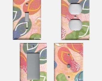 Summer Sand Beach Flip Flops Light Switchplates and Wall Outlet Covers Home Decor Accents
