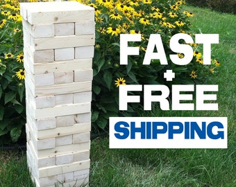 Giant Jenga w/Optional Crate **Fast & Free Shipping**