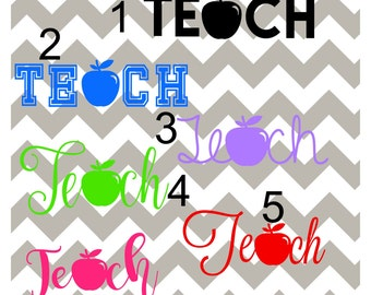Teacher Decal, Apple Teacher Decal, Teacher Appreciation Gift, Teacher, Personalized Teacher Decal, Teacher YETI Decal, Teacher RTIC Decal