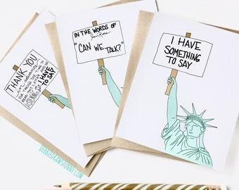 Political Postcards, Set of Protest Cards, Write Your Legislator Cards, Write Your Congressman, Write Your Congresswoman, Protest Cards