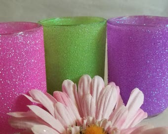 Glitter votives in bright melons 1.99 each best price for these.