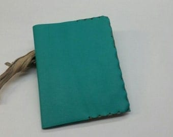 Emerald Composition Book Cover, Aqua Composition Book Cover, Teal Green Composition Book Cover, Refillable Leather Notebook