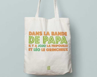 """Dad, Tote bag to customize"" bag, father, bag Tote, anniversary, father's day gift"